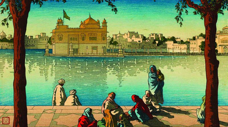 Portrait of Golden Temple by Charles William Bartlett