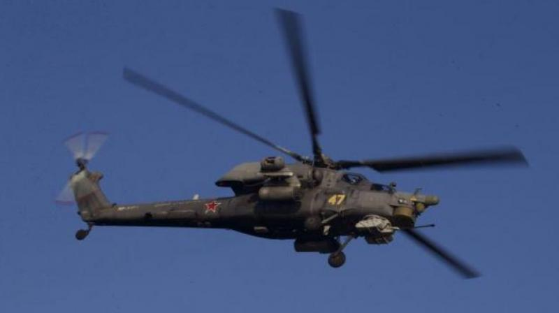 A suspected Chinese helicopter was on Sundayseen flying over Indian territory in Barahoti area of Chamoli district close to Sino-India border. (Representational Image/ AP Photo)