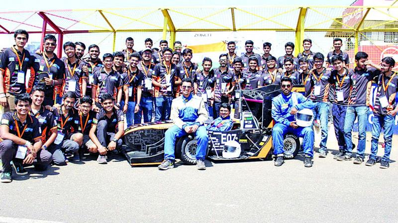 The students competed in static and dynamic events which tests the designing capabilities as well as the performance of the vehicle created by the students.