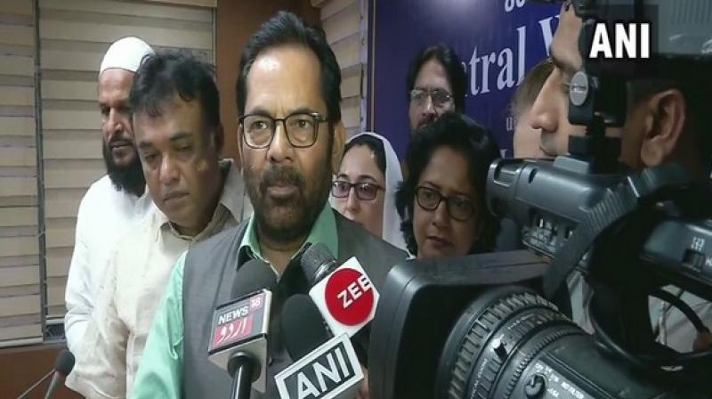 Union Minister for Minorities, Mukhtar Abbas Naqvi, on Saturday demanded
