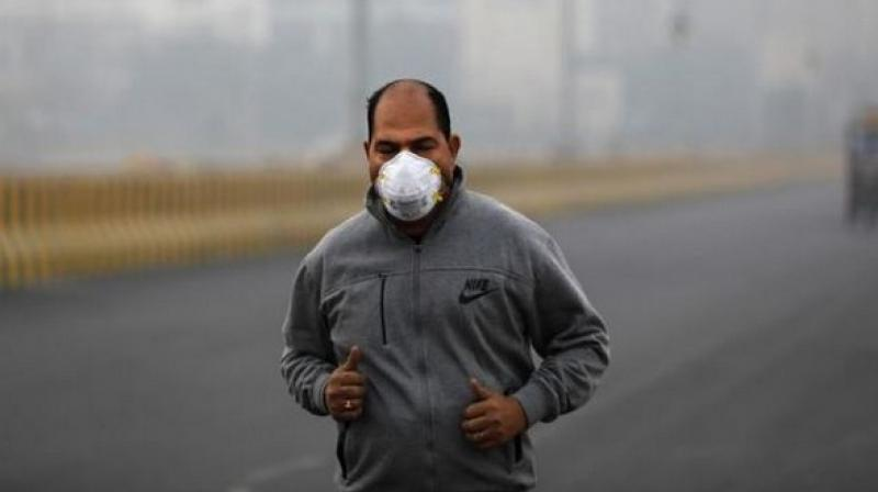 In Noida also, the air quality was not satisfactory in the morning as the AQI at PM 10 was 359 and PM 2.5 at 424. (Photo: ANI | Representational)