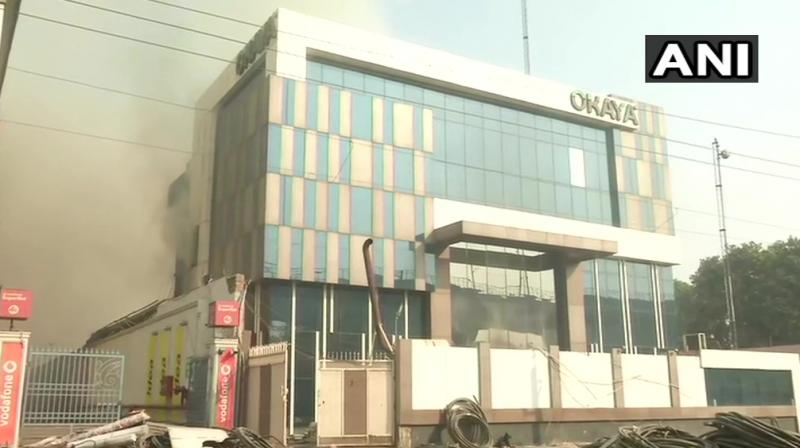 The fire department said they received a call around 4.23 am about a fire in the factory at Udoh Nagar area. (Photo: ANI)