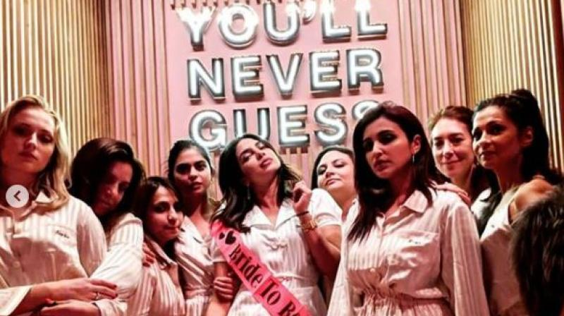 Priyanka Chopra, Parineeti Chopra, Sophie Turner and others at PeeCee's Bachelorette Party.