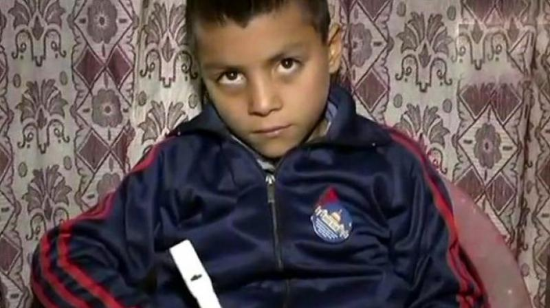 Nine-year-old Muzaffar Ahmad Khan said the idea of 'counting pen' struck him after he got poor marks in an exam, as he could not manage the required word count. (Photo: ANI   Twitter)