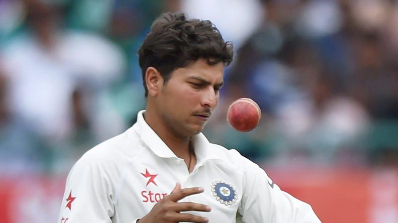 Chinaman bowler Kuldeep Yadav was ruled out of the final Test due to a shoulder injury. (Photo: PTI)