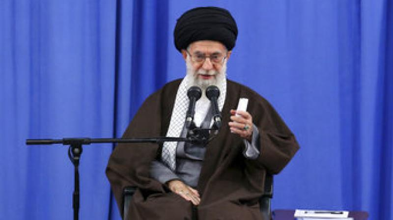 Khamenei spoke during a graduation ceremony in Tehran for cadets in Iran's Revolutionary Guard, a hard-line paramilitary force. (Photo: AP)