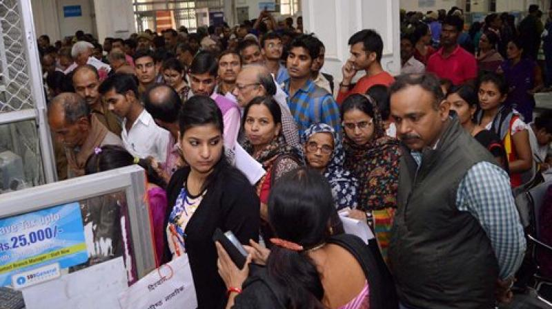 On Monday, he had brought his daughter to the bank and was standing in a queue for withdrawing money to take her to hospital when she died. (Photo: Representational Image/PTI)