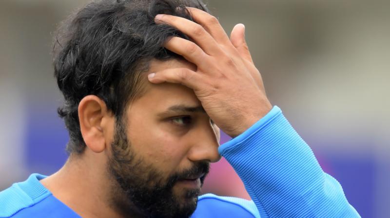 In the net session, Rohit Sharma was batting against India's throwdown specialist, Sri Lankan bowler, Nuwan Seneviratne. (Photo: AFP)