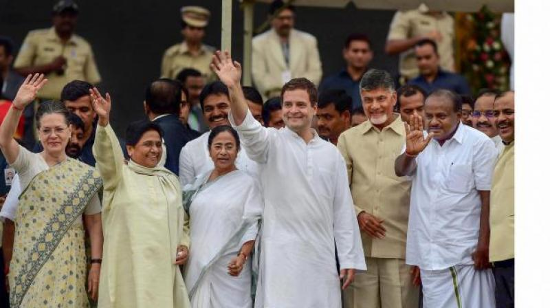 United we stand: A galaxy of opposition leaders across the country had converged at the swearing-in ceremony of Karnataka Chief Minister H.D. Kumaraswamy after the Congress and Janata Dal (Secular) successfully thwarted alleged attempts by the BJP to poach their legislators to reach the majority mark in the state.