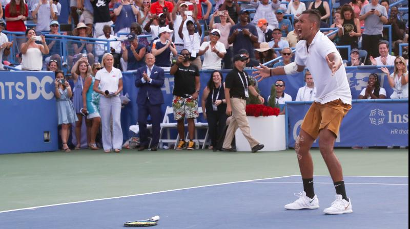 The 24-year-old Aussie, who struggled through the opening set, claimed the $365,390 top prize and his sixth career ATP crown at the US Open tuneup event. (Photo: AFP)
