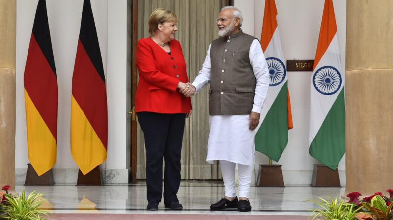 Modi said that India has invited Germany to take advantage of opportunities in defence production in the defence corridors in UP and Tamil Nadu. (Photo: Twitter)