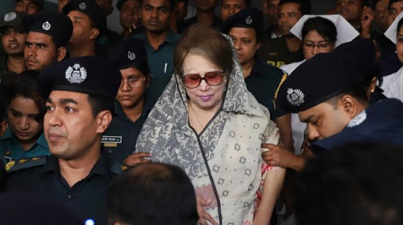 The government had in March released Zia for six months on a condition that she would stay at home amid the coronavirus outbreak in the country, receive treatment and not travel abroad. (AFP)