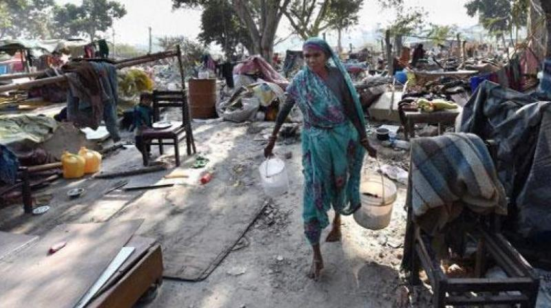 The 2011 census data shows 65 million people live in slums across the country. (Photo: Representational/PTI)