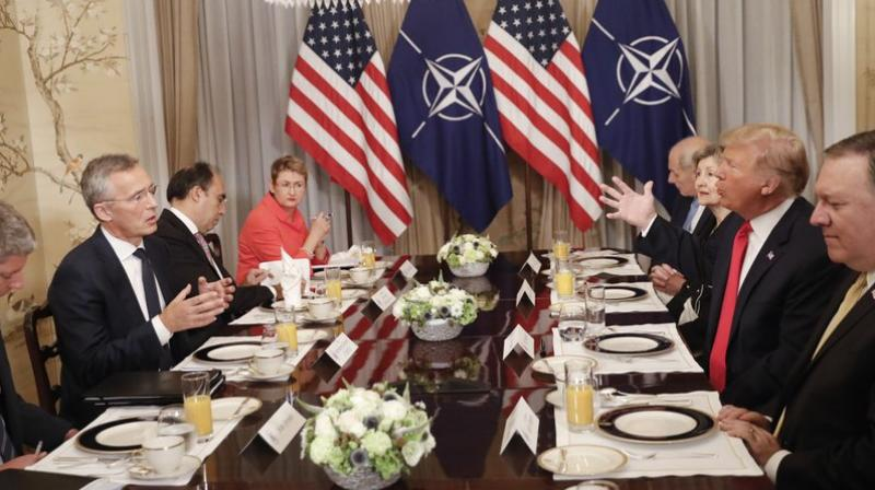 Trump stressed that NATO's budget had been unfair to the United States but now he was sure it would be fair. (Photo: AP)