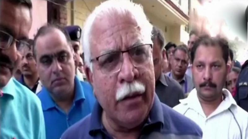 Haryana CM Manohar Lal Khattar assured that the remaining two accused in the case would also be arrested soon. (Photo: ANI)