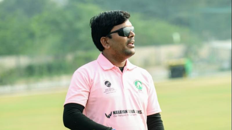 Sonu Golkar, Captain of the Blind Cricket Team of Madhya Pradesh.