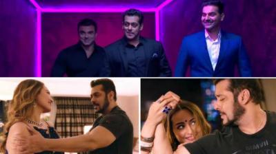 Salman Khan, Arbaaz Khan, Sohail Khan at 'Koffee With Karan'; Salman and Sonakshi Sinha in 'Welcome To New York'.