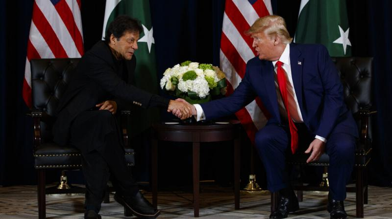 Not only this, when another Pakistani reporter tried to lure him with a flattering statement, saying Trump would be worthy of a Nobel Prize if he resolves the outstanding issue of Kashmir, the US President did not take the bait. (Photo: AP)