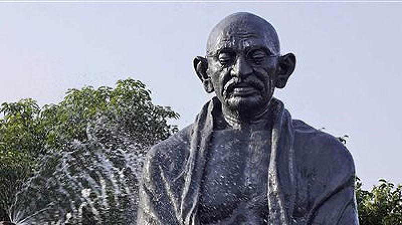 At the same time, there is a tangible dissonance between the official embrace of Gandhiji and unofficial ideological distaste for this icon. (Photo: AP)