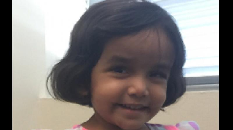 3-year-old Sherin Mathews was last seen outside her family's backyard in Richardson city in Texas on October 7. (RichardsonPD | Facebook)