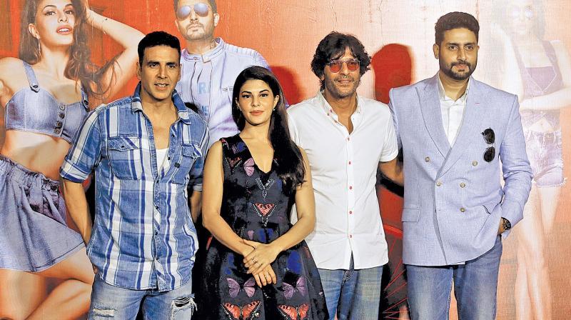 Akshay Kumar, Jacqueline Fernandez, Chunky Pandey and Abhishek Bachchan