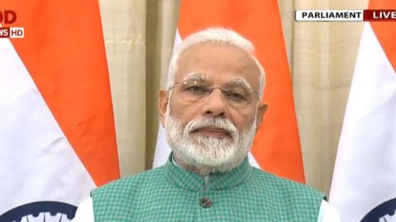 'But now PM Kisan Samman Nidhi scheme will benefit over 12 crore farmers who own 5 acres or less than 5 acres of land,' Modi added. (Photo: ANI | Twitter)