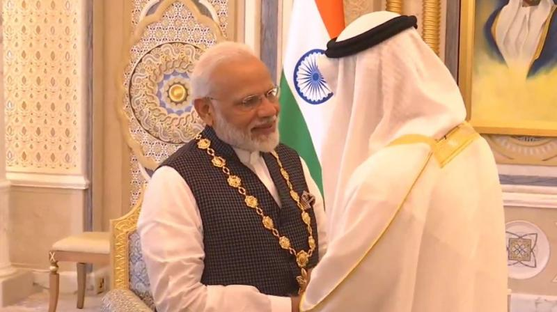 India and the UAE enjoy warm, close and multi-faceted relations underpinned by cultural, religious and economic linkages which, during the prime minister's previous visit to the UAE in August 2015, stood elevated to a comprehensive strategic partnership, it said.  (Photo: ANI)