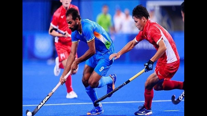 Japan might have scored three goals but the Indian boys made sure the Men in Blue were in the lead throughout the game and dominated proceedings. (Photo: Hockey India)