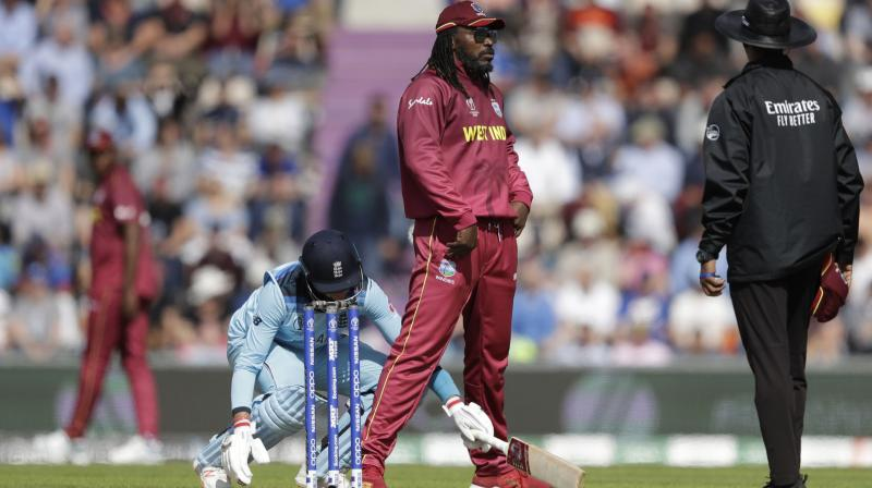 Chris Gayle  was spotted enjoying the match to the fullest, adding in a couple of dance moves and bowling with aviators on. (Photo: AP)