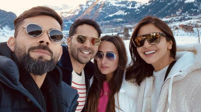Team India captain Virat Kohli is spending his best time with his actress wife Anushka Sharma in Switzerland. (Photo:File)
