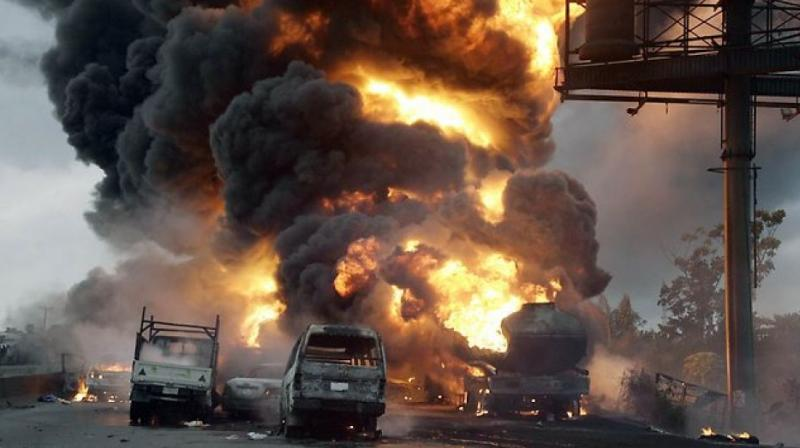 More than 30 people died when a fuel tanker crashed into other vehicles and burst into flames outside the town of Naivasha in Kenya. (Photo: AFP/Representational)