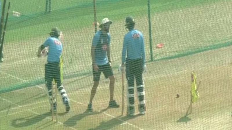 Ahead of the first Test against India, Bangladesh players were seen toiling at Holkar Stadium in Indore on Tuesday to prepare for the match against the hosts. (Photo:ANI)