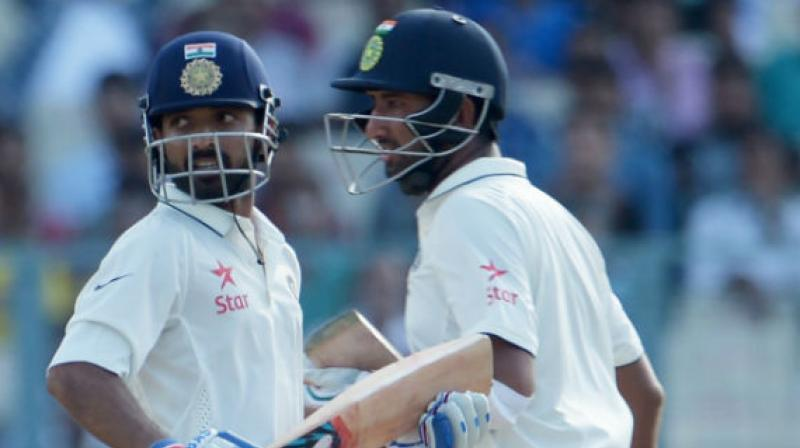 As India gears up to play their first-ever day-night Test with a pink ball, batsmen Ajinkya Rahane and Cheteshwar Pujara expressed their excitement. (Photo:AFP)