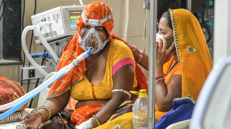 Around half of patients discharged from hospital for Covid still suffer from at least one persistent symptom -- most often fatigue or muscle weakness -- after 12 months. (Representational image: PTI)