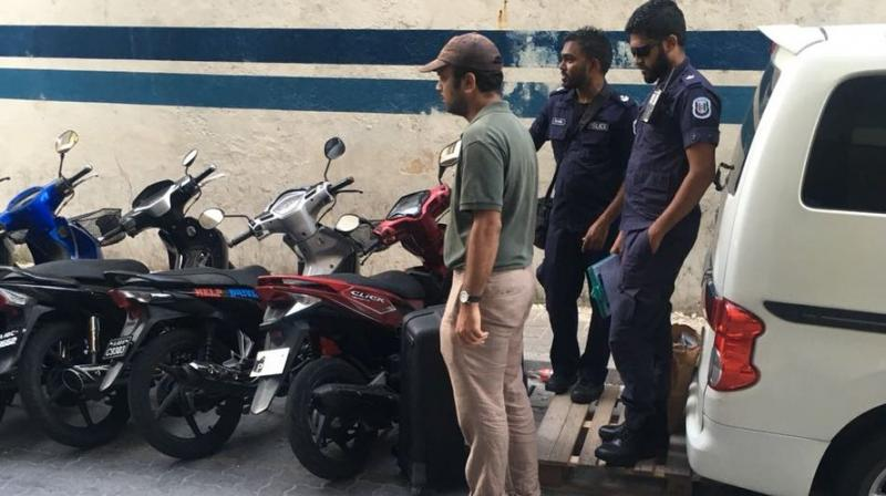 The action against the two journalists came as a privately-owned television station in the Maldives went off the air, citing threats during the country's current state of emergency. (Photo: ANI | Twitter)