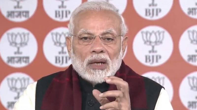 'Today's new slogan is Jai Jawan, Jai Kisan, Jai Vigyan and Jai Anusandhan. I would like to add Jai Anusandhan to it,' PM Modi said, while addressing the 106th Indian Science Congress in Jalandhar. (Photo: Twitter| @BJP4India)