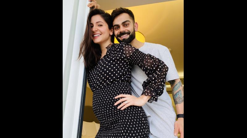 Virat Kohli shared this pic on Twitter to announce the news.