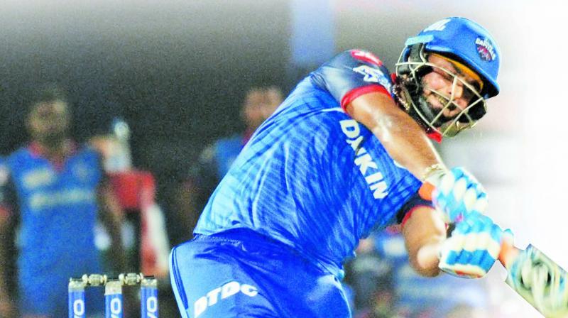 Rishabh Pant, 49off 21 balls, 4sx2 6sx5