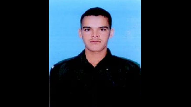 22-year-old Rajendra Singh was provided immediate medical assistance and taken to 92 Base Hospital where he succumbed to injuries. (Photo: Twitter | ANI)