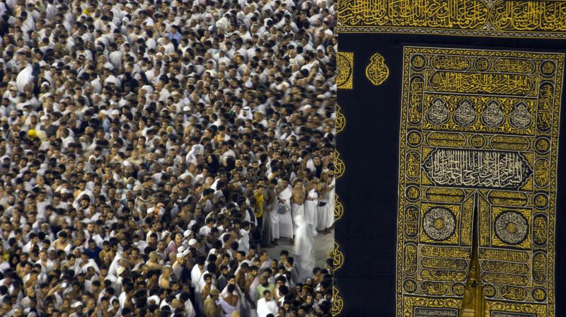Muslims are instructed to turn to the Kaaba shrine in Mecca during prayers. (Photo: AP)