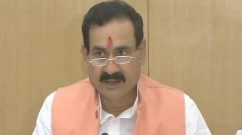 Madhya Pradesh Minister Narottam Mishra. (Photo: Twitter | ANI)