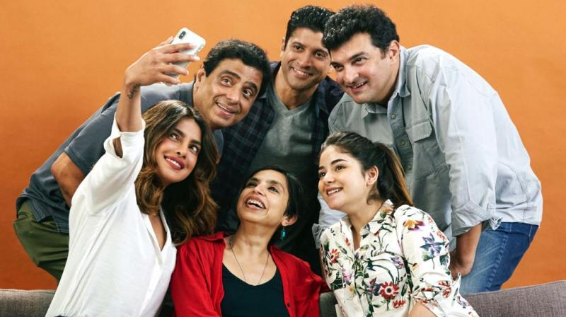 Team 'The Sky Is Pink' clicking a cute selfie together.
