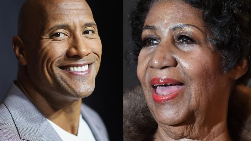 Dwayne Johnson and Aretha Franklin.