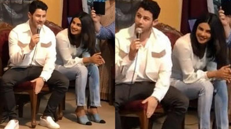 Priyanka Chopra and Nick Jonas at the orphanage. (Courtesy: Twitter/PriyankaChopra)