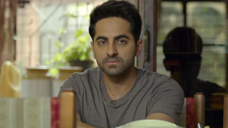 Ayushmann Khurrana in a screen grab from Badhai Ho trailer. (Courtesy: YouTube/Junglee Pictures)