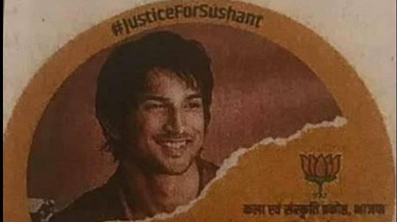 The poster featuring Sushant doing the rounds on social media. (Pic courtesy: Twitter)