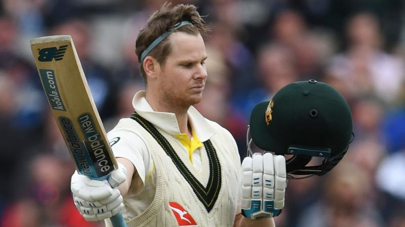 Smith has now five centuries from his last six tests against England and averages 65.37 in the Ashes, also second only to Bradman among Australian cricketers. (Photo: AFP)