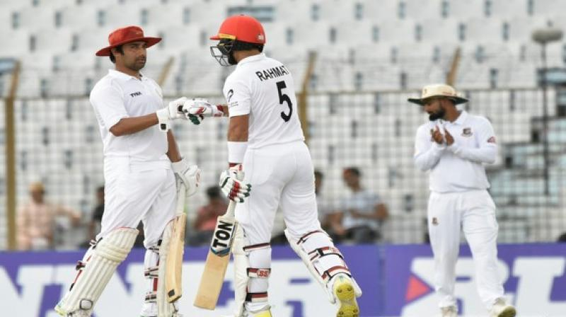 Rahmat Shah laid down a solid foundation by smashing a century and stitched a 120-run stand along with Asghar Afghan to revive Afghanistan's hopes in the match. (Photo: ACB/Twitter)