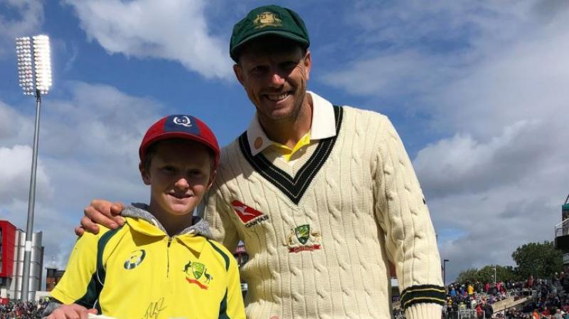 Max Waight had seen Australia lift the World Cup in 2015 on their home soil and it was then that he wanted to travel to the UK to watch his favourite team take on England in the high-voltage series. (Photo: cricket.com.au/twitter)