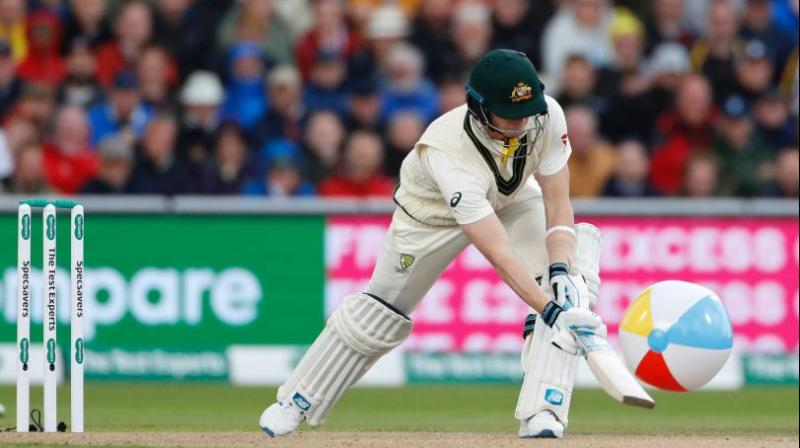 Steve Smith's 211 ensured Australia went past 450 to post a daunting first innings total of 497/8. (Photo:AP)